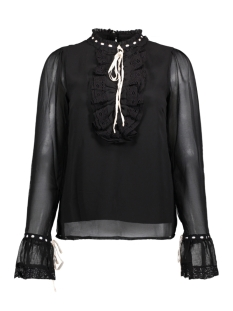 Vero Moda Blouse VMSAMI L/S SHIRT D2-8 10190452 Black/SNOW WHITE