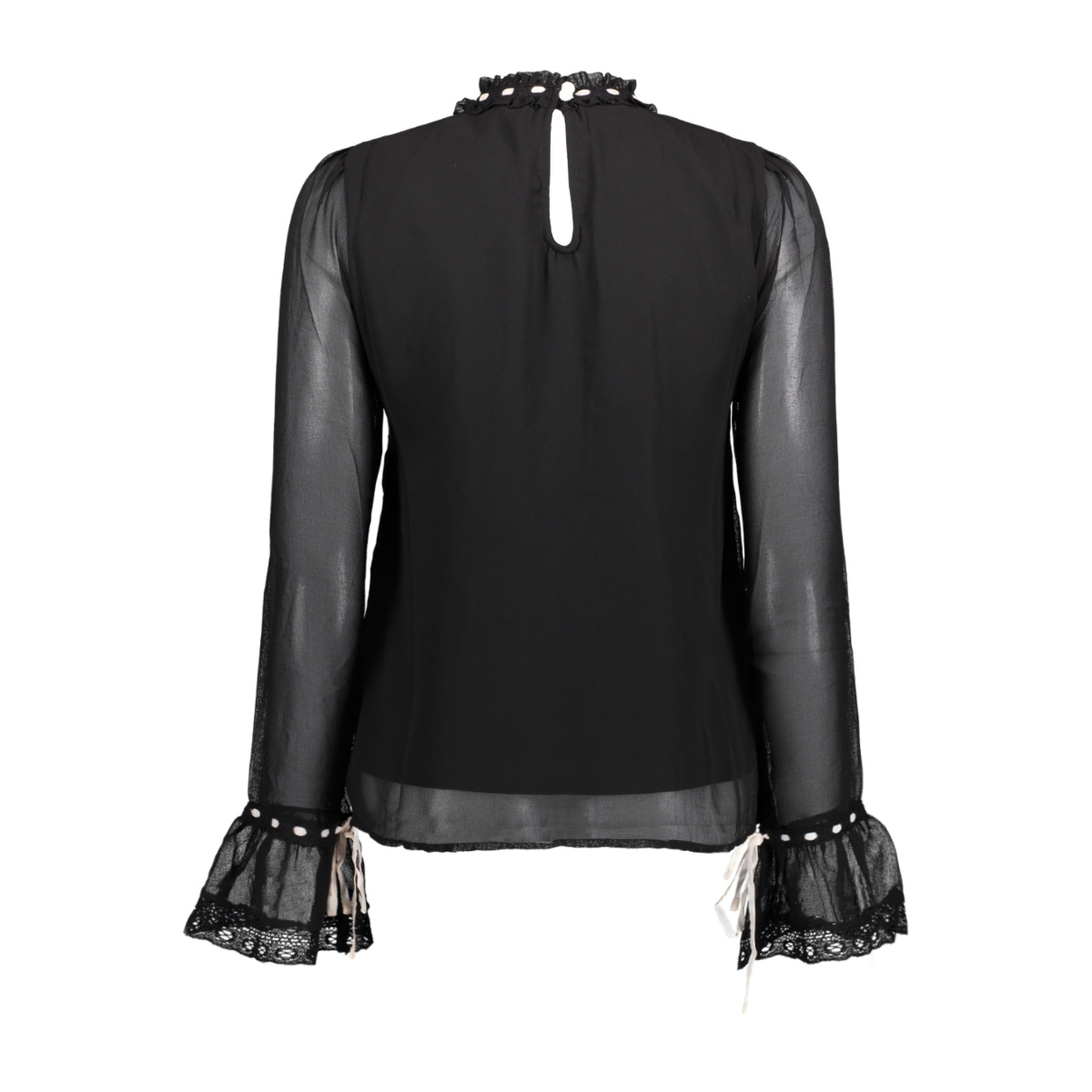 vmsami l/s shirt d2-8 10190452 vero moda blouse black/snow white
