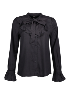 Only Blouse onlPOULA BOW FRILL SHIRT WVN 15146528 Black