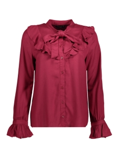 Only Blouse onlPOULA BOW FRILL SHIRT WVN 15146528 Rumba Red