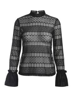 Pieces T-shirt PCROPE LACE T-NECK TOP 17084994 Black