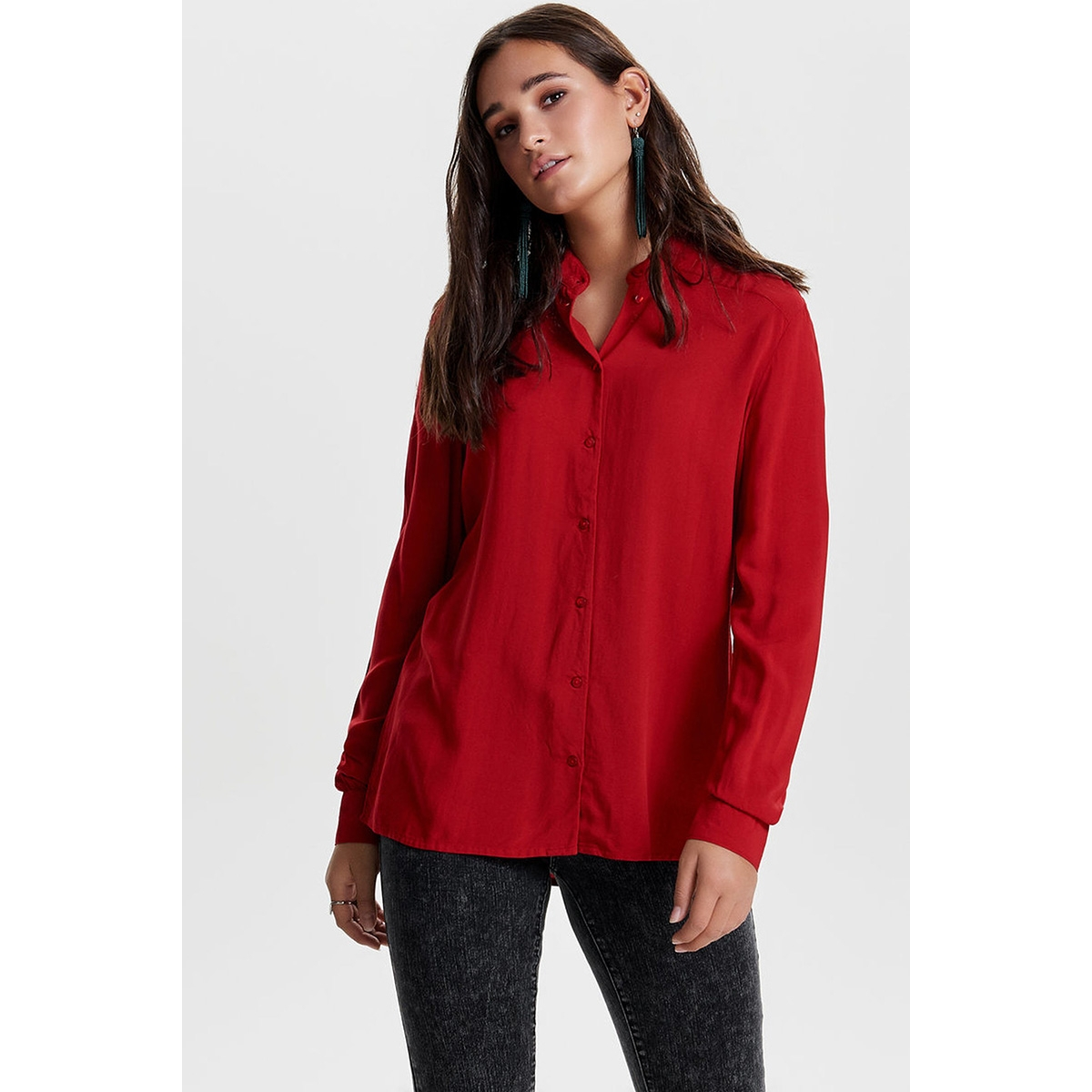 jdydicte l/s shirt wvn 15140848 jacqueline de yong blouse scarlet sage