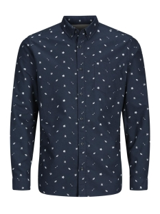 Jack & Jones Overhemd JORJOE SHIRT LS 12127804 Total Eclipse/ Slim