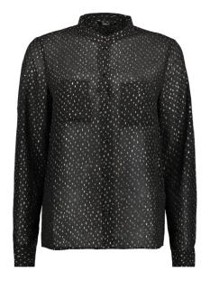onlrosalyn l/s shirt wvn 15146997 only blouse black/gold foil