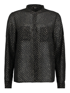 Only Blouse onlROSALYN L/S SHIRT WVN 15146997 Black/GOLD FOIL