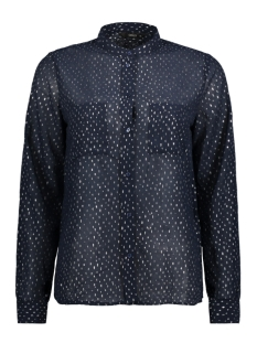 Only Blouse onlROSALYN L/S SHIRT WVN 15146997 Night Sky/SILVER FOI