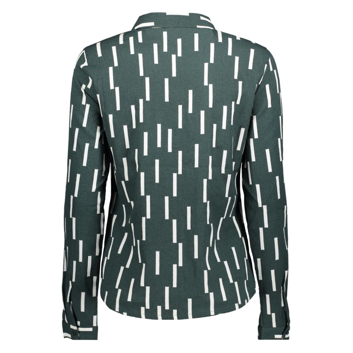 vmstinne l/s shirt d2 lcs 10199273 vero moda blouse green gables/snow white