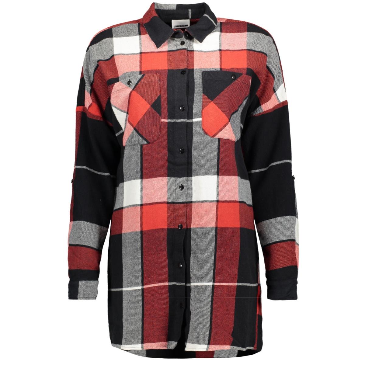 nmerik l/s oversize shirt 17-8 27000692 noisy may blouse flame scarlet/ combo