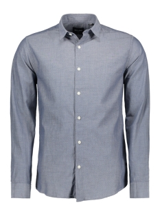 Only & Sons Overhemd onsBERNHARD LS AOP CHAMBRAY SHIRT 22008248 Medium Grey Denim