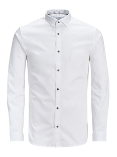 Jack & Jones Overhemd JPRMAGNUM DETAIL SHIRT L/S PLAIN 12128758 White