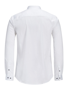 jprmagnum detail shirt l/s plain 12128758 jack & jones overhemd white
