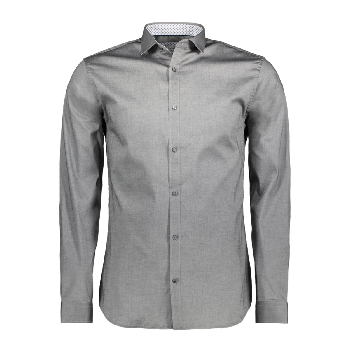 jprmagnum detail shirt l/s plain 12128758 jack & jones overhemd grey melange