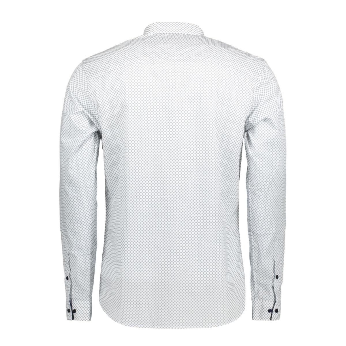 jprmagnum aop shirt l/s plain 12128731 jack & jones overhemd white