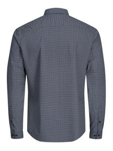 jprmagnum aop shirt l/s plain 12128731 jack & jones overhemd navy blazer