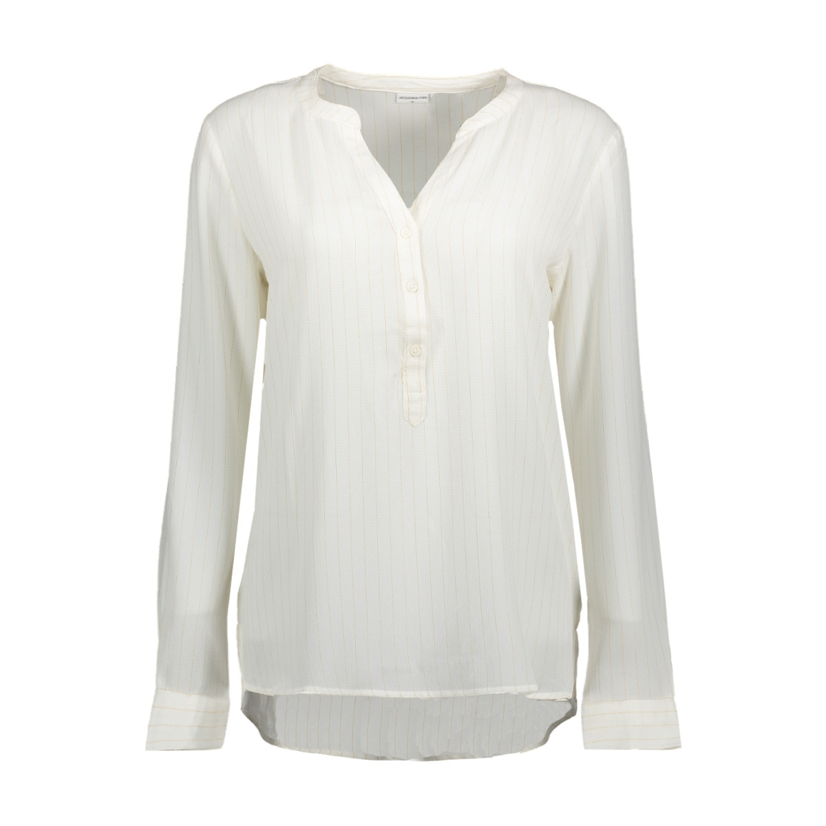 jdyserenity l/s placket top wvn 15142956 jacqueline de yong blouse cloud dancer/gold lurex