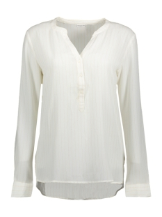 Jacqueline de Yong Blouse JDYSERENITY L/S PLACKET TOP WVN 15142956 Cloud Dancer/GOLD LUREX