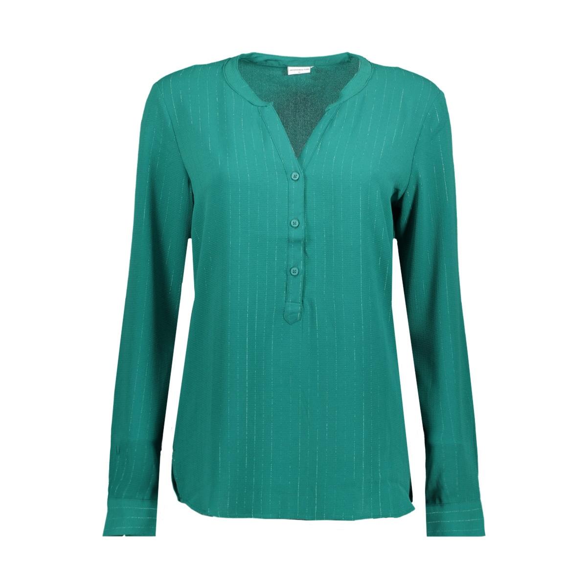 jdyserenity l/s placket top wvn 15142956 jacqueline de yong blouse strom/gun metal