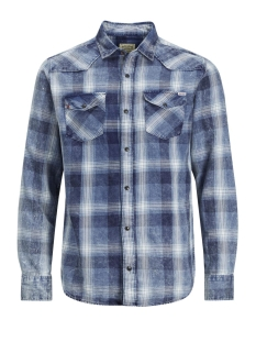 Jack & Jones Overhemd JJVJASON SHIRT L/S WESTERN 12128505 Parisian Night