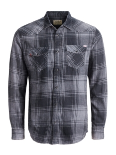 Jack & Jones Overhemd JJVJASON SHIRT L/S WESTERN 12128505 Caviar