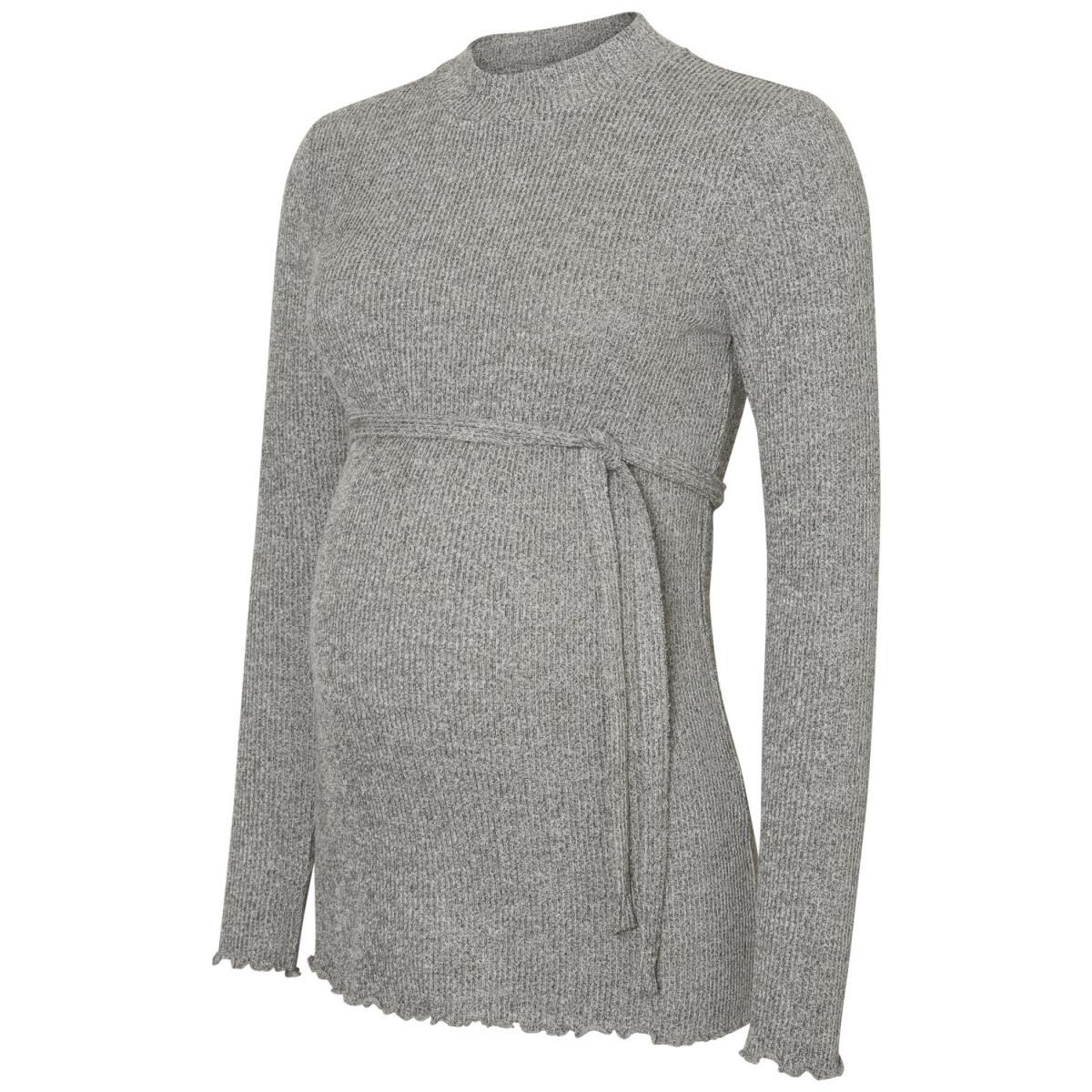 mlnevada l/s jersey top 20008017 mama-licious positie shirt medium grey melange