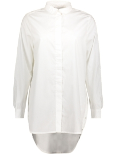 Noisy may Blouse NMCONANSA L/S LONG SHIRT 8 27000542 Brigt White