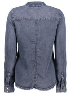 vmspace ls fringe shirt 10189817 vero moda blouse dark blue denim