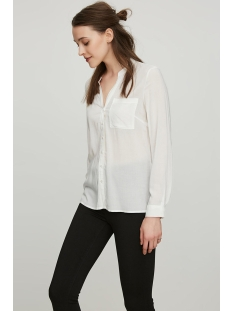 vmsue ella l/s shirt noos 10177232 vero moda blouse snow white