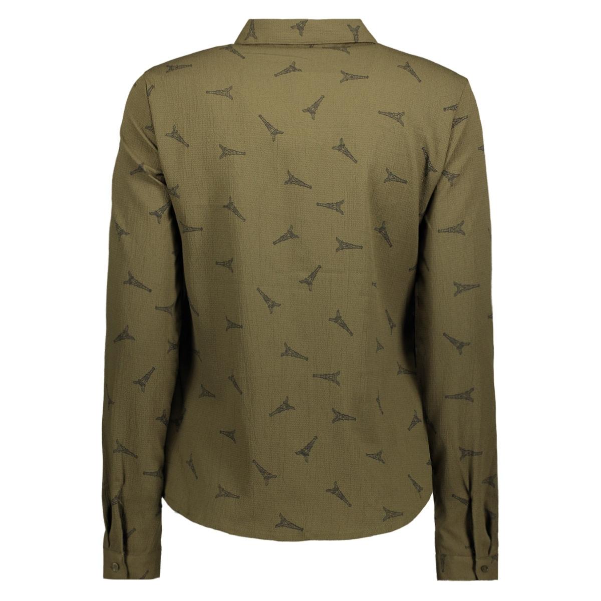 vmevi l/s shirt d2 lcs 10199275 vero moda blouse ivy green/black eife