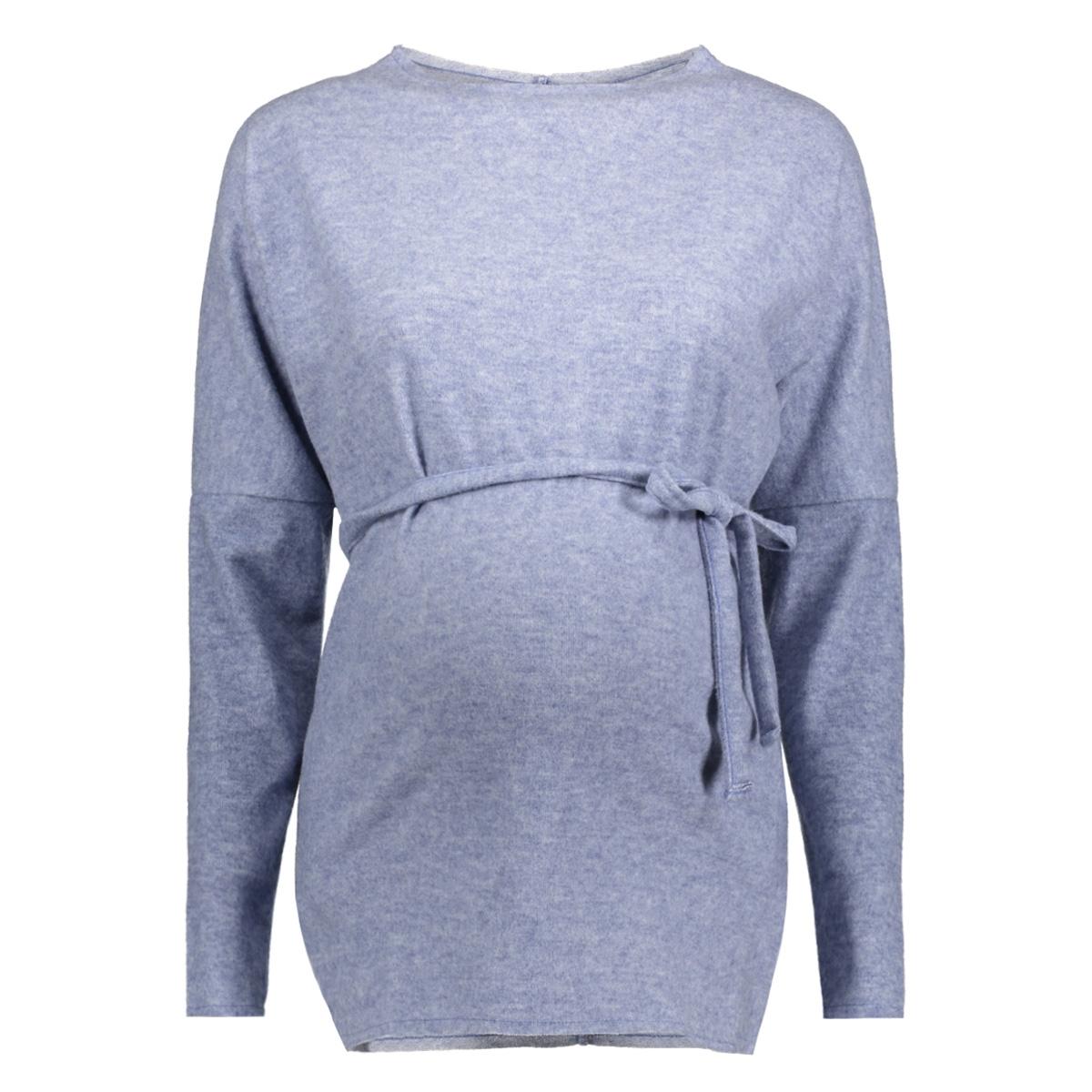 mlnashville l/s knit top 20007951 mama-licious positie trui cerulean/melange