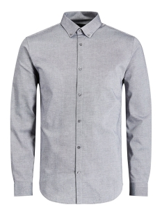 Jack & Jones Overhemd JPRX-MAS SHIRT L/S PLAIN 12130351 Grey Melange