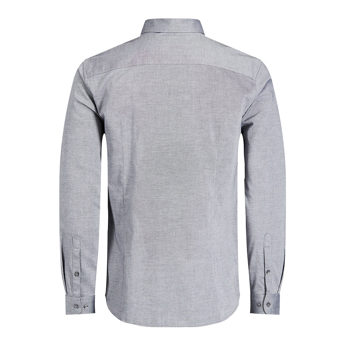 jprx-mas shirt l/s plain 12130351 jack & jones overhemd grey melange