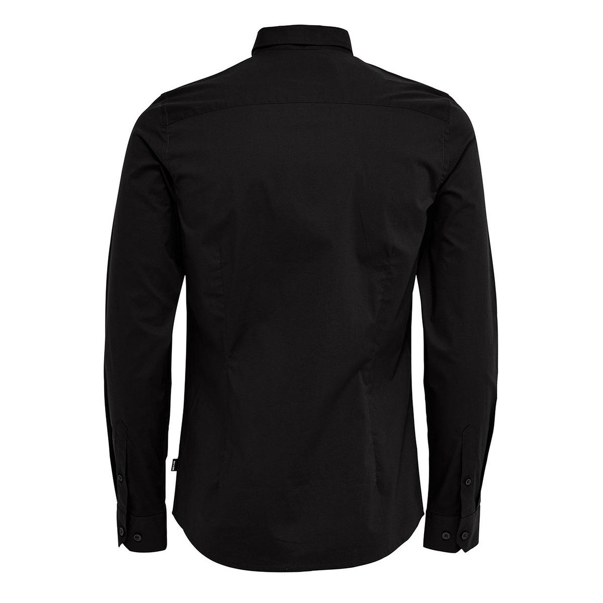onsalfredo ls shirt ex-slim noos 187679 only & sons overhemd black