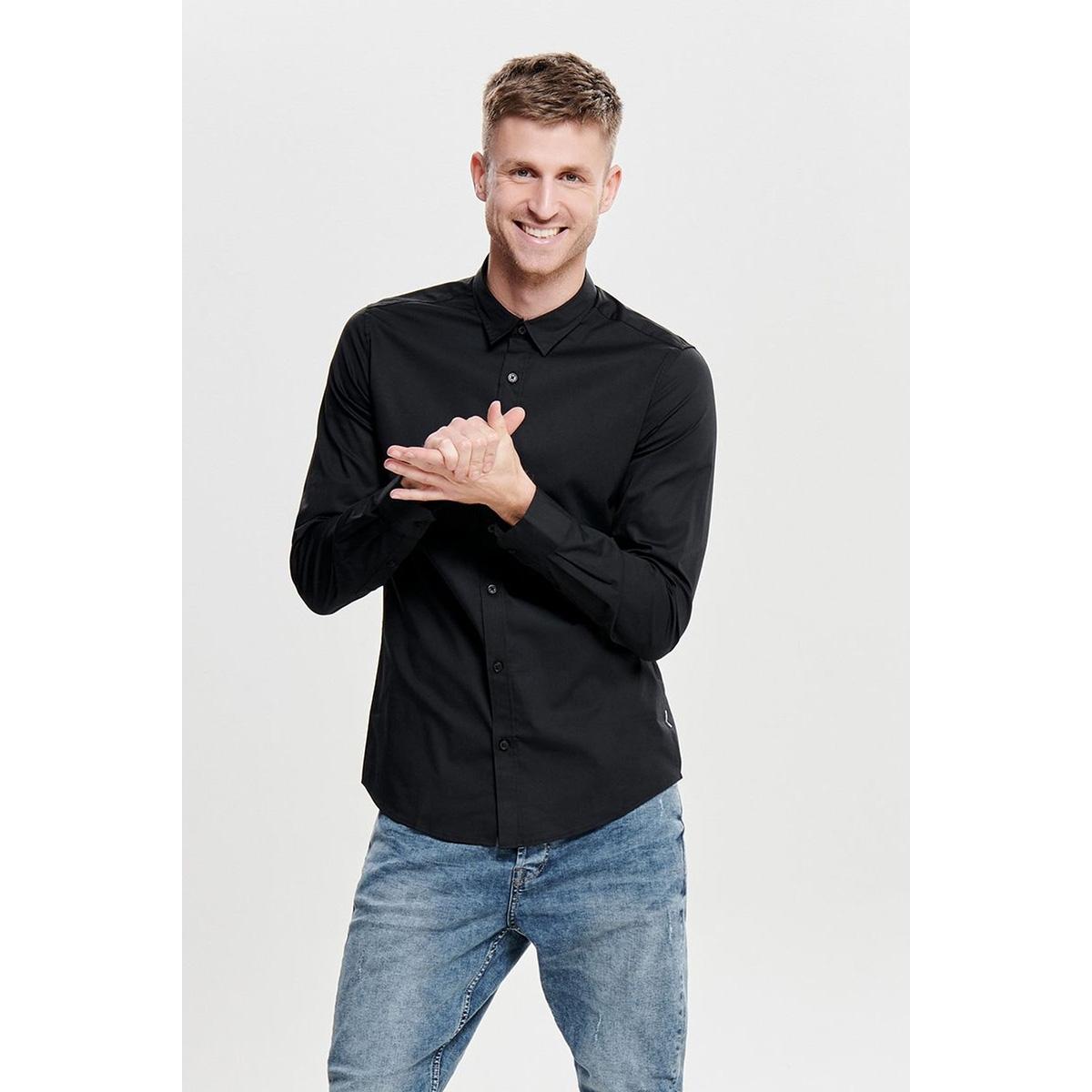 onsalfredo ls shirt ex-slim noos 22007080 only & sons overhemd black