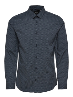 Only & Sons Overhemd onsALFREDO LS AOP SHIRT NOOS 22008735 Blue Nights