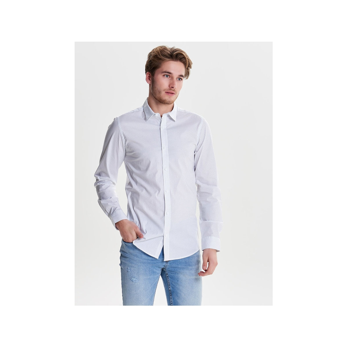 onsalfredo ls aop shirt noos 22008735 only & sons overhemd white