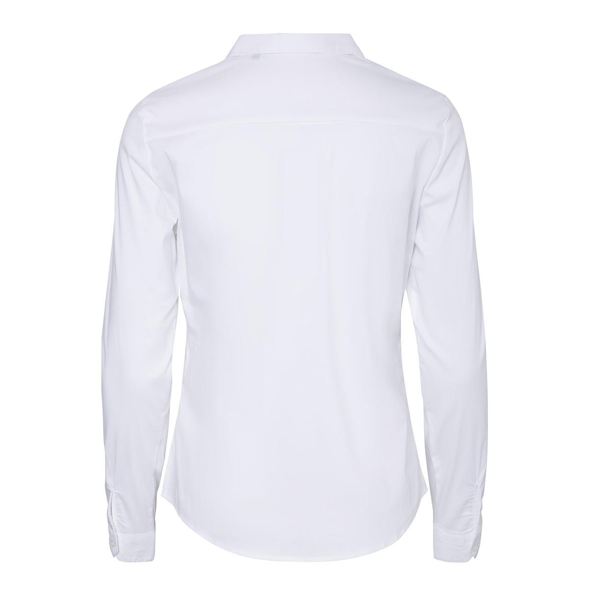 vmisabella l/s shirt noos 10188822 vero moda blouse bright white