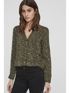 vmchristmas sue ella l/s shirt d2 l 10188678 vero moda blouse ivy green
