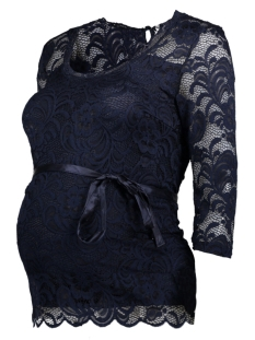 mlmivana new 3/4 woven top 20008571 mama-licious positie shirt black iris