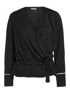 Pieces Blouse PCDARI LS BLOUSE FF 17088700 Black/ Square Dot