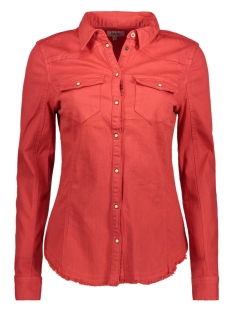 Only Blouse onlWENDY FIT COL STRETCH  DNM SHIRT  15151833 Flame Scarlet