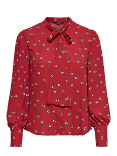 Only Blouse onlFLORI L/S BISHOP SHIRT AOP WVN 15150884 Jester Red/DITSY FLOR