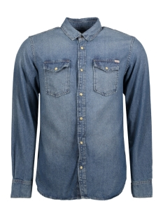 Jack & Jones Overhemd JORSHERIDAN SHIRT L/S WESTERN NOOS 12114488 Medium Blue Denim