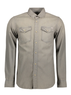 Jack & Jones Overhemd JORSHERIDAN SHIRT L/S WESTERN NOOS 12114488 Light Grey Denim