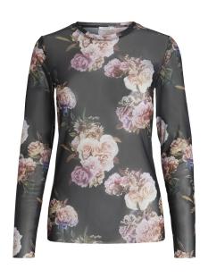 Pieces T-shirt PCSOPHIA LS MESH TOP D2D 17091372 Black/Roses