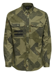 Only & Sons Overhemd onsTANK LS REG CAMO SHIRT 22009010 Dried Herb