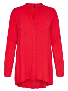 Only Blouse onlFIRST LS POCKET SHIRT NOOS WVN 15133028 Flame Scarlet