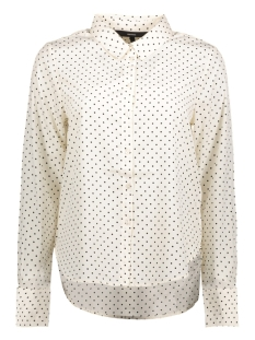 Vero Moda Blouse VMNICKY L/S  SHIRT D2-3 10199269 Snow White/BLACK DOTS