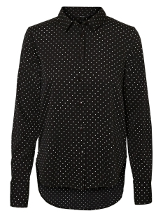 Vero Moda Blouse VMNICKY L/S  SHIRT D2-3 10199269 Black/WHITE DOT