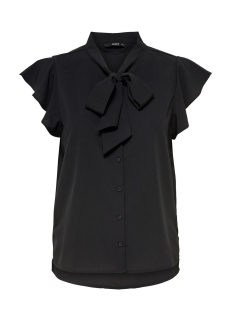 Only Blouse onlELENA S/S STRIPED BOW SHIRT WVN 15150874 Black