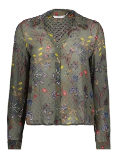 Only Blouse onlCAROLINA L/S AOP SHIRT WVN 15151820 Agave Green/FRENCH FLO